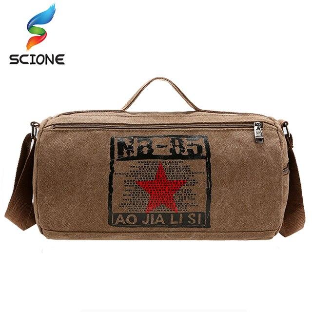 2018 Hot Canvas Sport Bag Training Gym Men Woman Fitness Bags Durable Multifunction Military Handbag