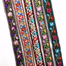 Width 5cm Embroidery Ethnic Jacquard Webbing Woven Tape Vintage Lace Ribbon Trim Collar Tribal Boho  DIY Gift Accessories