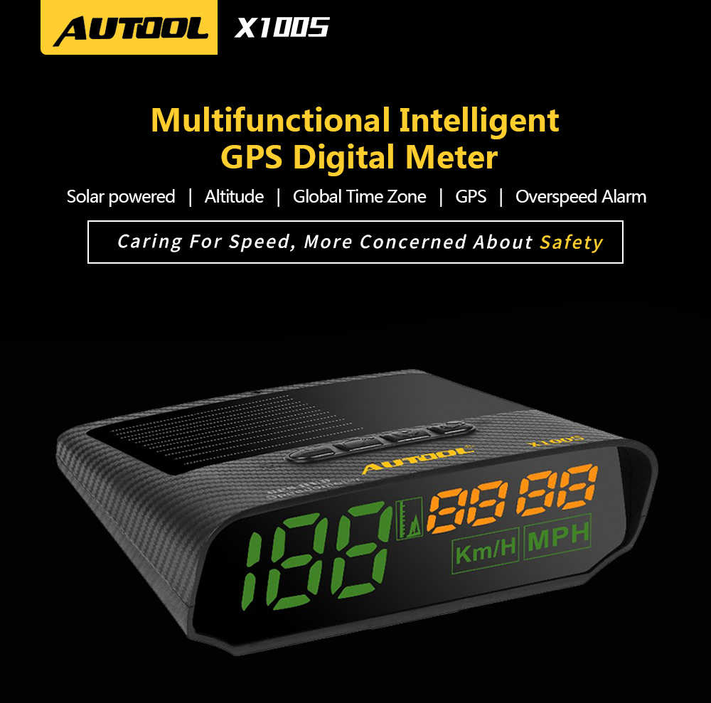 AUTOOL X100 Car HUD GPS Speedometer Head Up Display Digital Meter Car Speedometer Overspeed MPH//KM//h Alarm Speedometer OverSpeed Fatigue Driving Alarm Multi-Function Auxiliary Instrument for All Cars