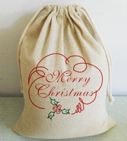 Xmas Bags Fashion Decorative Custom Christmas Santa Sack Kids Favors Stocking Gifts Holders With Drawstring Home