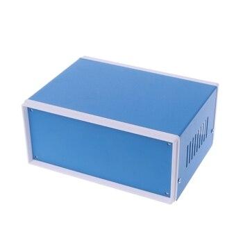Blu Custodia In Metallo Caso Del Progetto Fai Da Te Scatola Di Giunzione Di 6.7