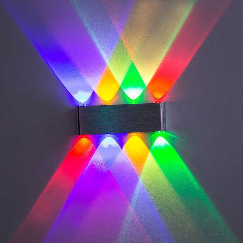 Домашние 8 Вт светодиодные Настенные светильники 7 цветов вариант AC110V 220 В