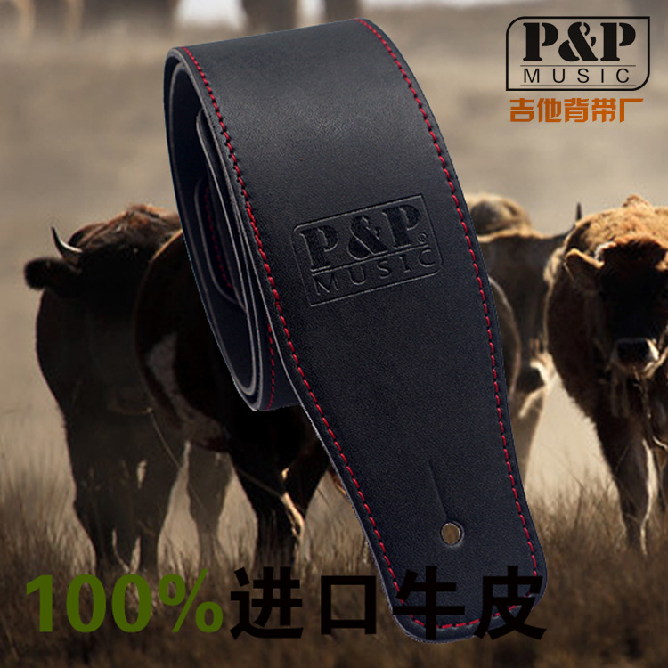 Hot Sales P&P Guitar Strap  High Quality Bass Leather Strap High Quality Leather Guitar Straps GS-033 strap straps good quality leather guitar strap electric bass straps diverse choices hot selling guitar belt