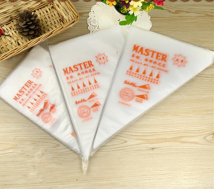 100 pièces petit/moyen/grand taille jetable tuyauterie sac glaçage Fondant gâteau crème sac décoration pâtisserie pointe outil GYH