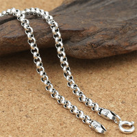 Thai 925 Sterling Silver Necklace Cross Chains Curb Retro Vintage Men Women S Gift Chains Pendants
