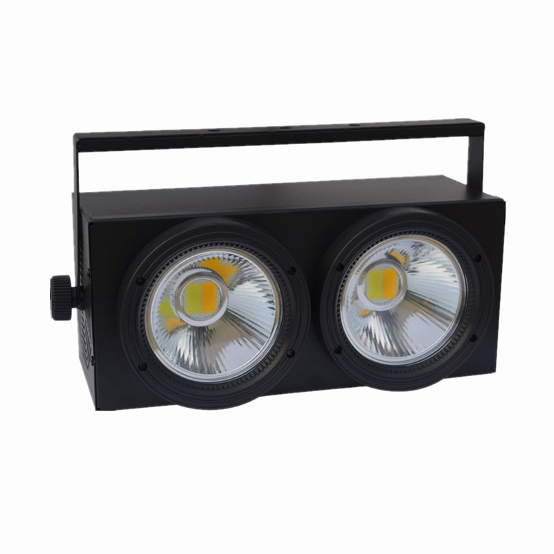 4pcs/lot new update 2x100W cob led blinder light withe+warm white led par light for stage blinder m45 x treme