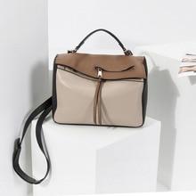 Bolso de la almohadilla de cuero genuino para las mujeres diseñador de la marca de lujo de alta calidad bolsos de hombro totes cruz cuerpo bolsa de mensajero marrón negro