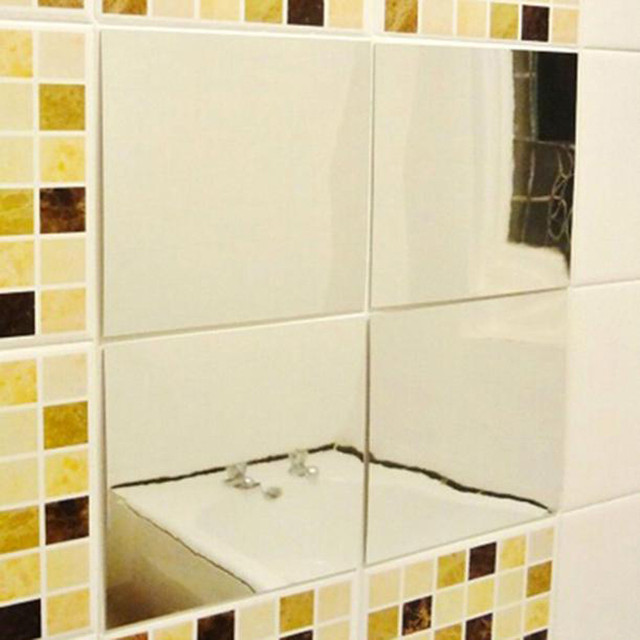 16pcs Mirror Tiles Self Adhesive Wallpaper Affixed Square Decoration Dec21 Extraordinary