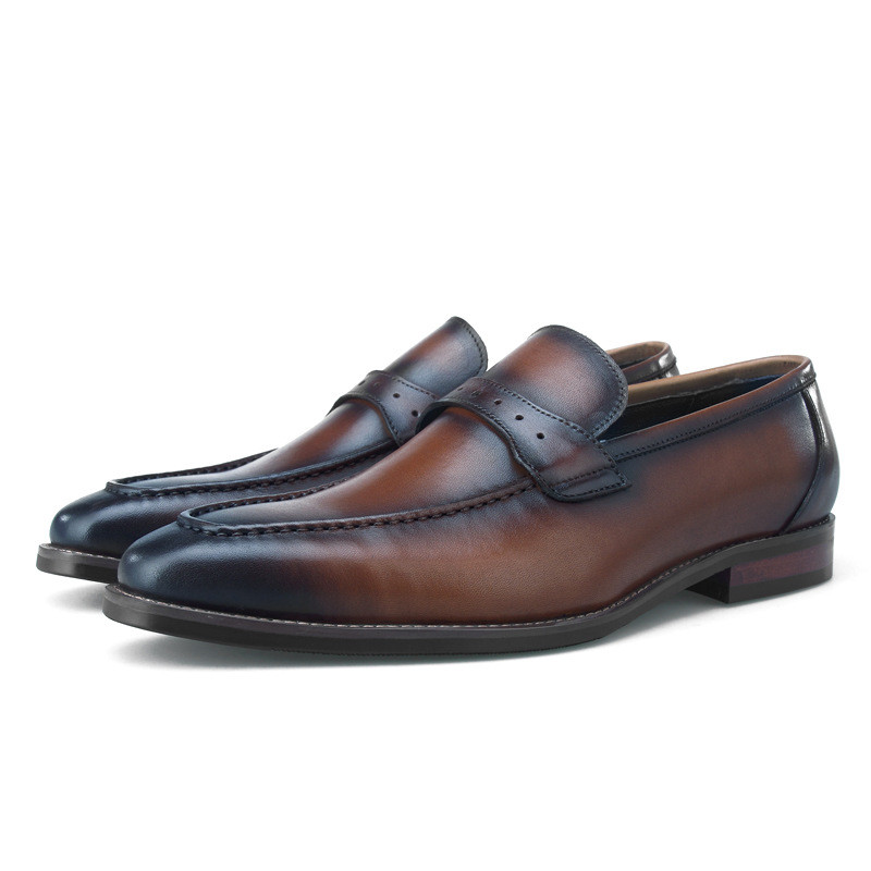 Fashion Brown / Black Loafers Mens Business Shoes Genuine Leather Wedding Formal Dress Shoes Male Social ShoesFashion Brown / Black Loafers Mens Business Shoes Genuine Leather Wedding Formal Dress Shoes Male Social Shoes