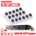 Sicherheit Kamera System 16ch CCTV System 4.0MP CCTV Kamera Dome indoor Kamera Überwachung Kit 16ch DVR 1080 p HDMI Video ausgang