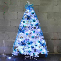 1.5M/1.8M Blue Christmas Set Tree Deluxe Set Christmas Tree Christmas Hotel Shopping Mall Supplies