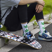 Fashion 1Pair Comfortable High Quality Cotton Socks Marijuana Leaf Maple Leaf Casual Long Weed Crew Sock