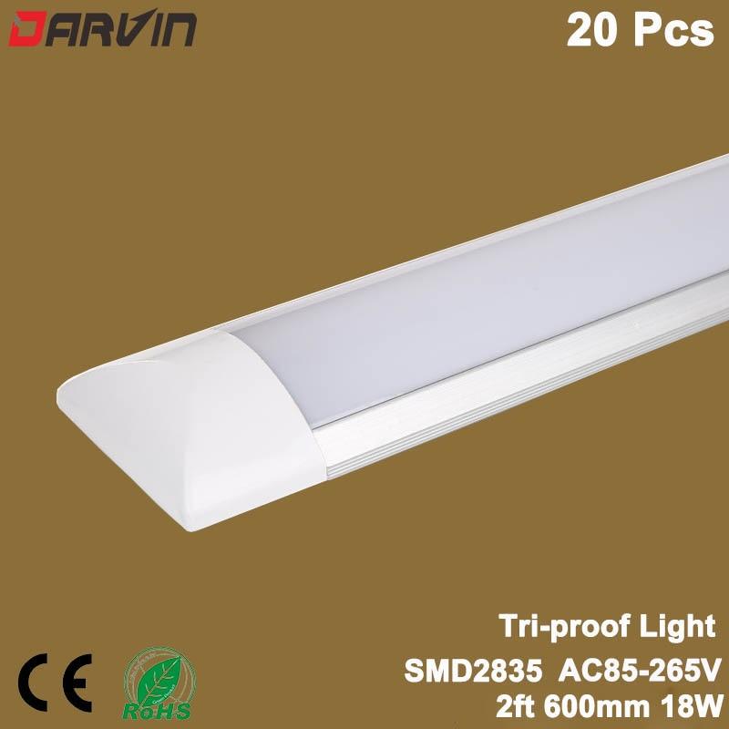 Led Linear light Clean Purification Tube Light 2ft/18W 600mm 60cm Led Tube Lamp Flat Batten Light Linear Lamp