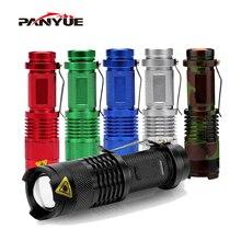 цена на PANYUE SK68 800LM Flashlight Waterproof Camouflage LED Flashlight Torch 3 Modes zoomable Adjustable Focus Lantern Portable Light