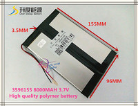 3 7V 8000mAH 3596155 Polymer Lithium Ion Li Ion Battery For Tablet Pc GPS Cell Phone