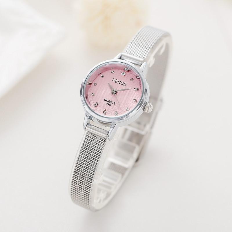 RENOS Klocka Kvinnor Med Box Enkel Svart Vit Rosa Armbandsur Mode - Damklockor - Foto 5