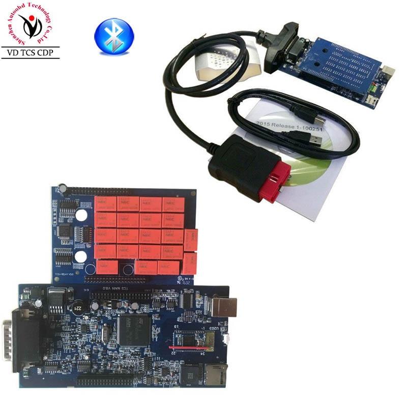 Nouveau 2015 R3/2016. R0 Noir Nouveau VCI VD TCS CDP PRO avec Bluetooth Pour Camion De Voiture et Générique 3in1 Auto OBDII Scanner outils De Diagnostic