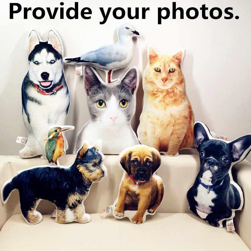 חדש חם תמונה התאמה אישית DIY כלב כרית קטיפה צעצועי בובות ממולא בעלי החיים כרית ספה רכב דקורטיבי Creative מתנת יום הולדת
