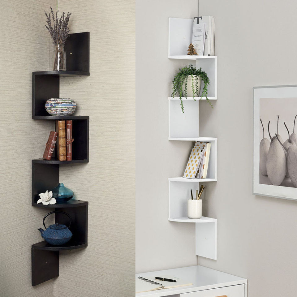 US $6.6 6 Tiers Wall Corner Artistic Shelf Furniture Floating Display  Rack Space Saving US Warehouse Drop Shipping AvailableStorage Holders &
