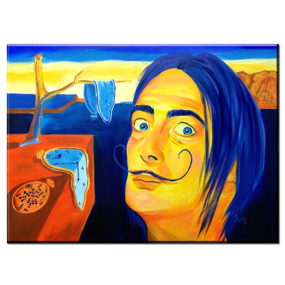 ZZ1786 Modern Oil Painting Graffiti Salvador Dali Canvas Art Wall ...