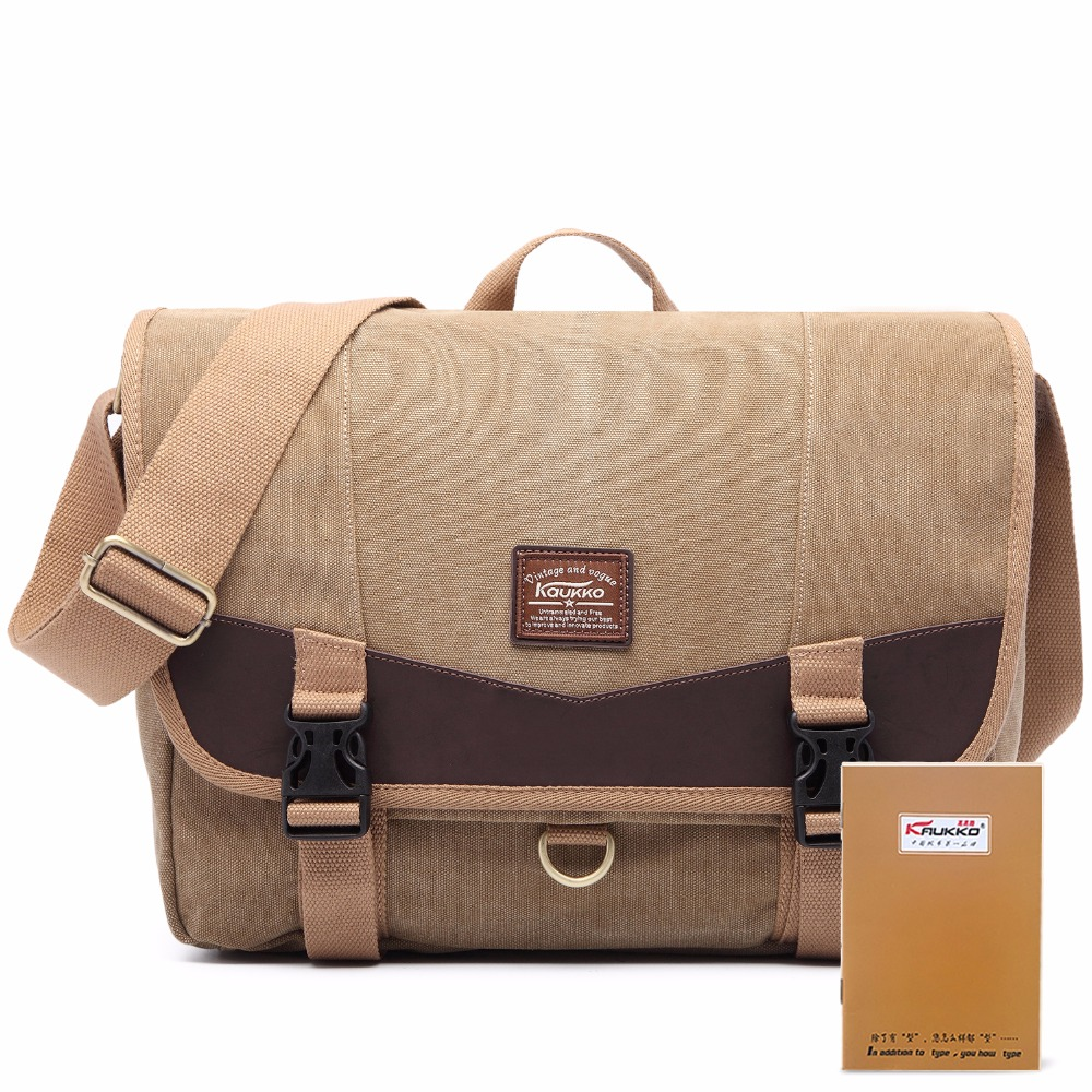 New Arrive Kaukko Crossbody Canvas Bags for colleag Student Duffle Large Capacity laptop Bag Kaukko Bag brown rucksack brown ruc kaukko fp84