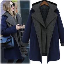 Весенний женский тонкий большой размер Корейская версия длинный шерстяной плащ темперамент зимнее пальто для женщин