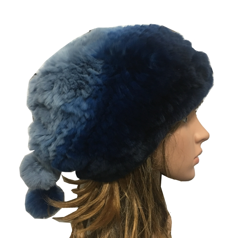 TopFurMall Handmade Russian Women's Real Rex Rabbit Fur   Skullies     Beanies   Hats Caps Female Winter Warm Neck Rings LF5009