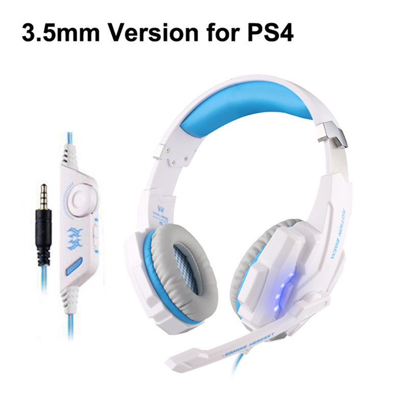 Upgrade Original KOTION EACH G9000 3.5mm USB Gaming Headphone Headset Earphone for PC Games With Mic LED Light Laptop Tablet PS4 fashion game headband headphone kotion each g9000 led light gaming headset earphone with mic for laptop gamer fone de ouvido
