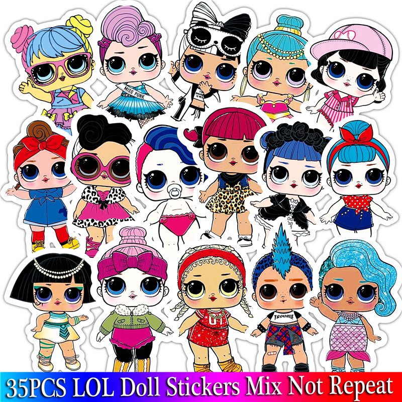 Toy Laptop Toys R Us 35pcs Lol Doll Sticker Cartoon Sexy Girl Sticker Set For