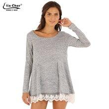 Свитер зимы женщин пуловер леди зима кружева лоскутная свитер марка Большой размер свободного покроя перемычка женщин свитер вершины