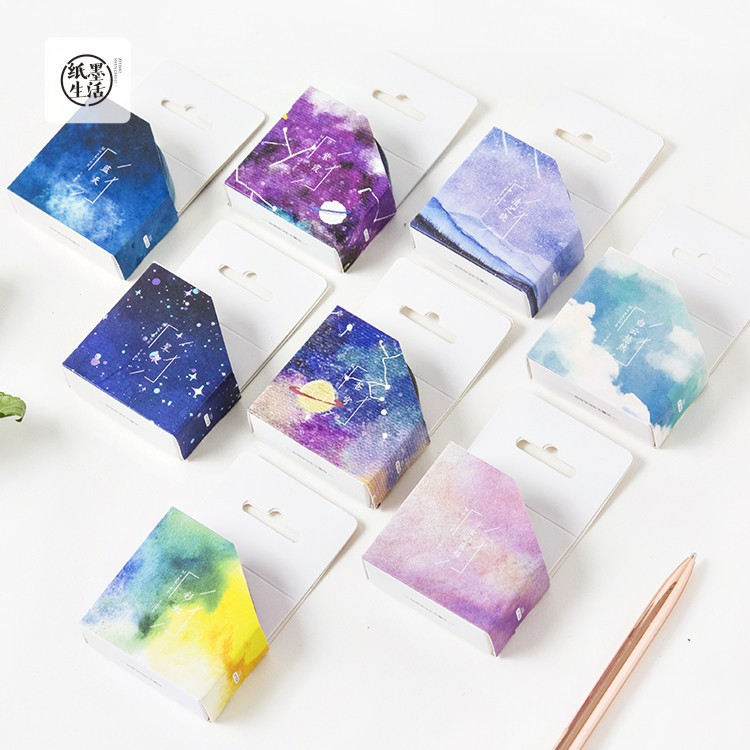 Nature Color Washi Tape Set Blue Sky Purple Star Pink Sakura Deco Paper Masking Tapes Stationery School Supplies