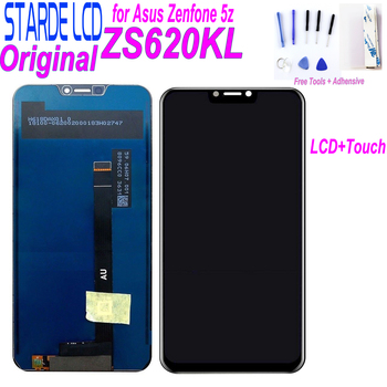 Original 6.2'' LCD for ASUS ZenFone 5 ZS620KL ZE620KL LCD Display Touch Screen Digitizer Assembly with Free Tool original 5 2 for asus zenfone 3 max zc520tl x008d lcd display touch screen digitizer assembly with frame for asus zc520tl lcd