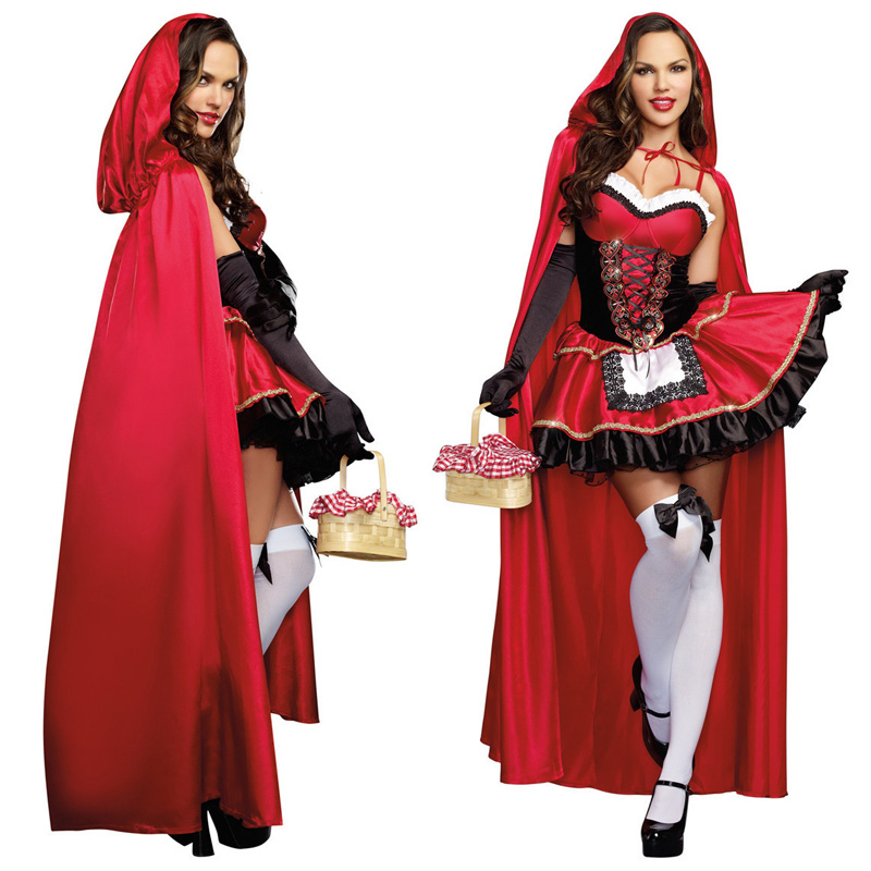 2018 Little Red Riding Hood Outfit Costume Adult Women Halloween