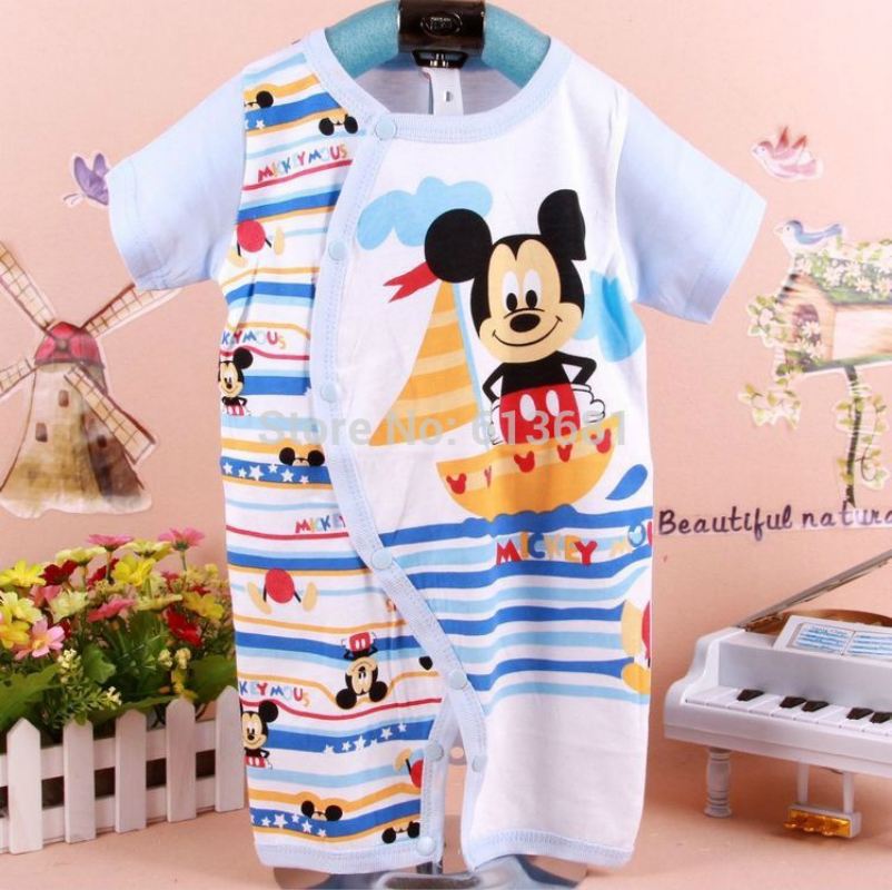 newborn clothes 100% cotton cartoon baby romper cute romper baby body suit Cartoon short sleeve
