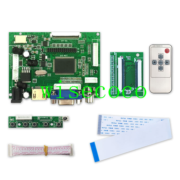 LCD TTL LVDS Controller Board HDMI VGA 2AV 60PIN For A070VW04 V0  Driver Board