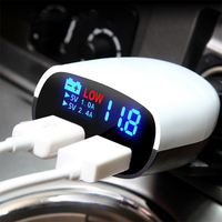 LED Screen Intelligent Car Charger Dual USB 3.4A Cars Volt Car Phone Charger for Honor 7 16 GB