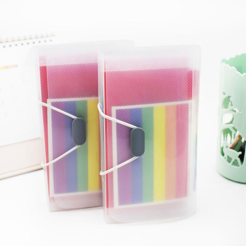 New office A6 Expanding File Folder Wallet organ Bag 13 Layer Rainbow Hang rope type Filing Products in File Folder from Office School Supplies