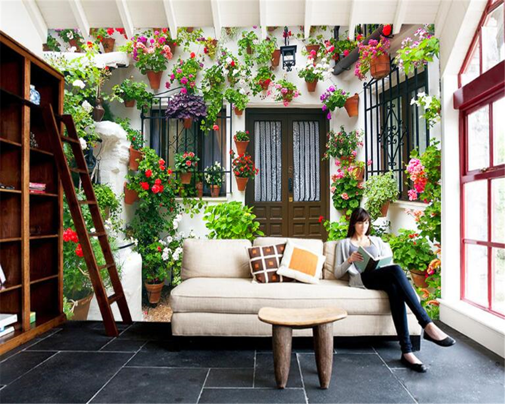 Beibehang Wallpaper Kustom Pribadi Kecil Dinding Dinding Taman Rumah