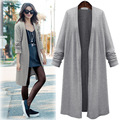 New 2016 summer new fashion women coat long cardigan coat wild female Autumn Casual trench coat pius size coats