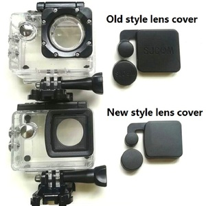 Image 1 - New/Old Model SJCAM Clownfish 4000 Lens Cap Cover And Hood For SJCAM SJ4000 WIFI/SJ4000 + Waterproof Housing Case Sports Camera