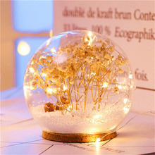 Nordic Cartoon USB LED Lamp Glass Crystal ball Children Night Light Home Desk Decor Kid Gift Bedroom Living Room Decoration