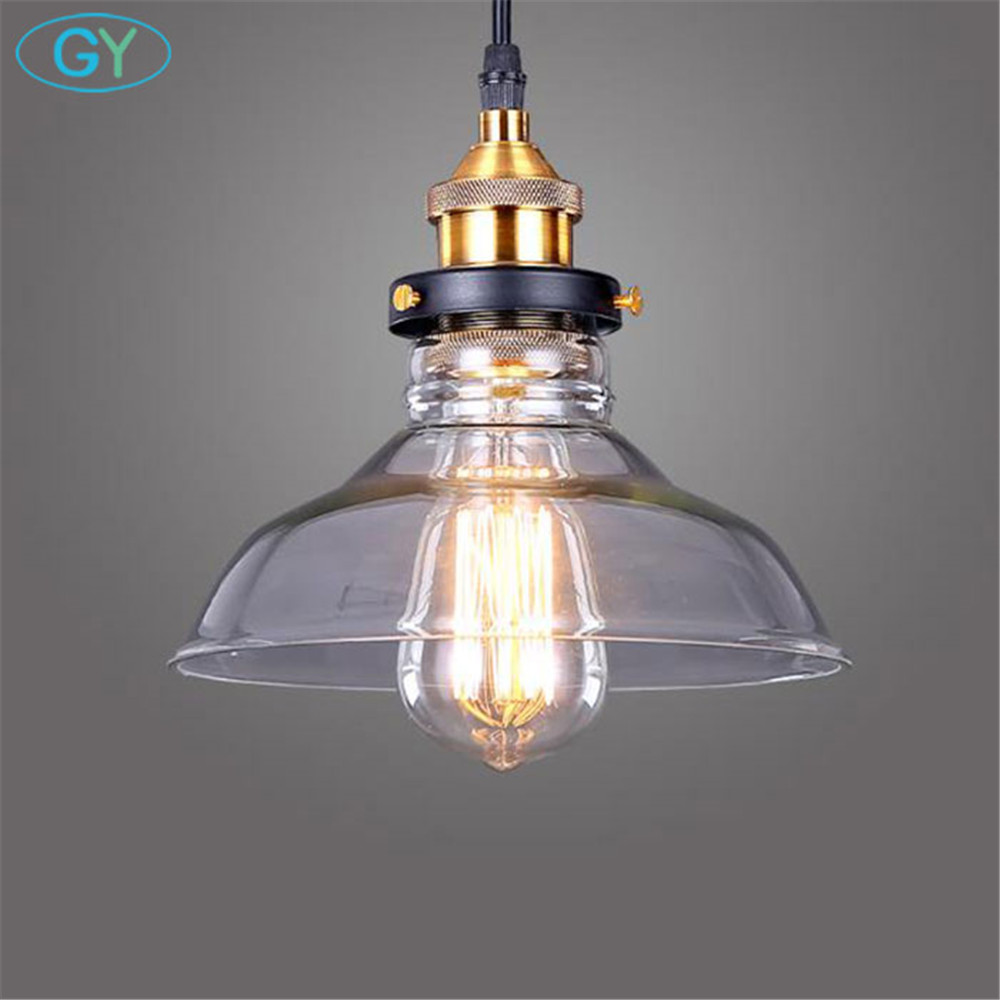 Industrial Art Decorative Lighting Vintage Clear Glass Pendant lamp Black 40W Edison Kitchen Hanging Light verlichting hanglampIndustrial Art Decorative Lighting Vintage Clear Glass Pendant lamp Black 40W Edison Kitchen Hanging Light verlichting hanglamp