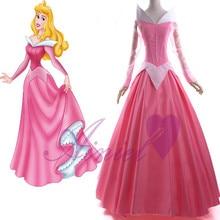 Sleeping beauty princess cosplay pink dress de halloween princesa aurora cosplay