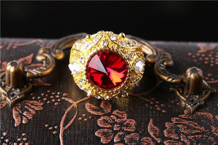 Joyme joyería turca de lujo anillo masculino de boda azul piedra oro - Bisutería - foto 6