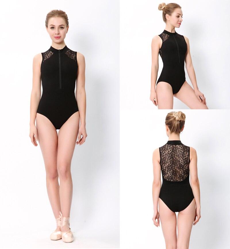 Ballet maillots de baile mujeres 2020 nuevo estampado de moda cremallera gimnasia baile traje adulto barato encaje Ballet leotardoBallet   -