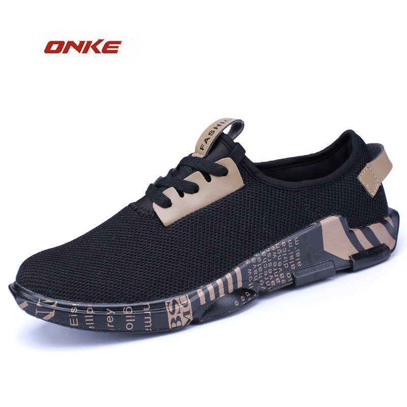 2017 ONKE Brand Sports Running Shoes Man Track And Field Breathable Spring Summer Cozy Soft Damping Outdoor Walking Sneaker