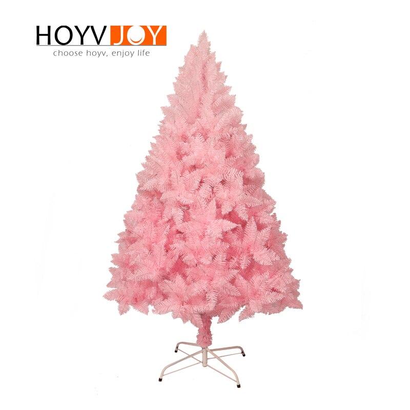 Hoyvjoy Flocking Pink Christmas Tree Mini New Year Decorations With Led Light And Small Whole Custom