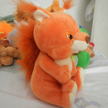 Russian language intelligent singing song Squirrel doll,electronic toys for girl,Intellectual development, russian toy