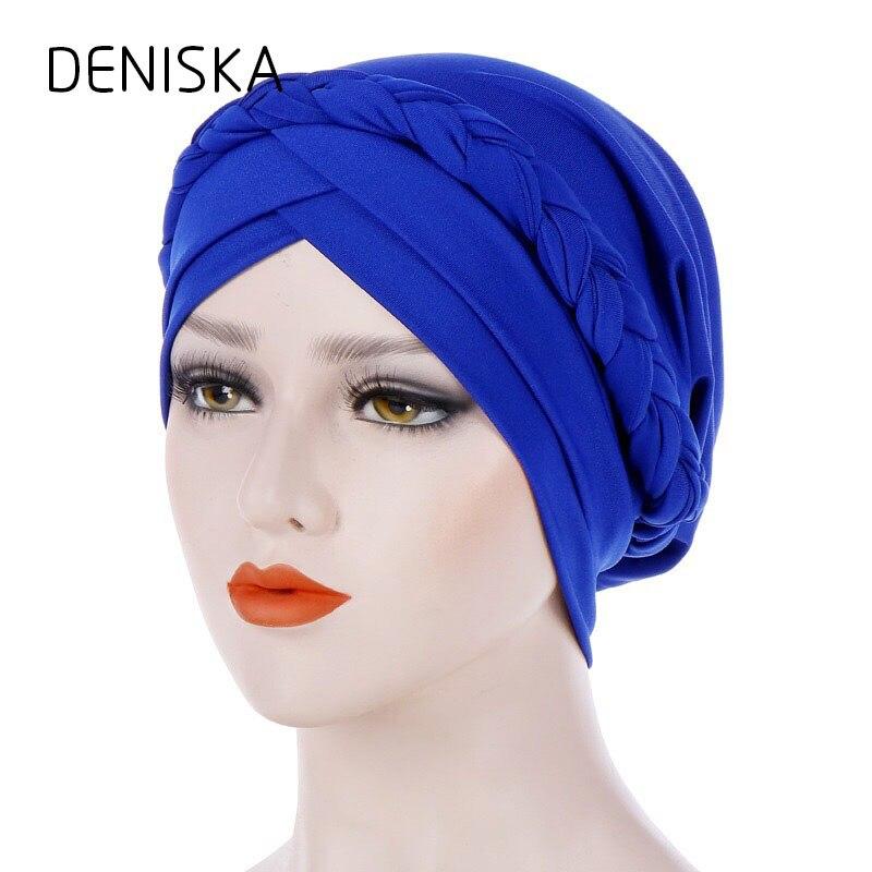 Дениска Новый Для женщин Горячие StyleTurban Кепки шляпы для химиотерапии Бандана Платок женские аксессуары для волос Женская шляпка