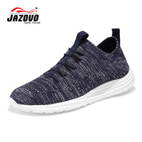 Jazovo Outdoor Shoes Light Breathable Massage Sport Shoes Man Running Shoe Fly Weave Technology Comfortable Sneakers